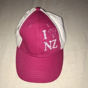 Accessories - New Zealand white and pink hat, never worn